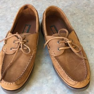 Wolverine leather boat shoes